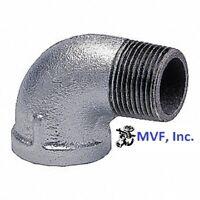 "1/2"" 150 NPT 90° Street Elbow Galvanized Malleable Iron Fitting <MI100441GMI"