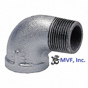 "1/2"" 150 NPT 90° Street Elbow Galvanized Malleable Iron Fitting <MI100441GMI"
