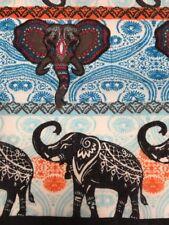 Colorful Lucky Elephant Bandana Mehndi Henna Ganesh Headwrap Chemo Scarf Doo Rag
