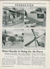 1951 Aviation Article Chrysler Aircraft Components C-124 Grumman SA-16 J-48 Jet