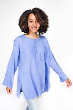 Shirt Tunic Kurta Cotton Geeta Top Long Sleeve Hippie Boho Free Size USA Seller
