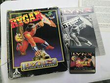 Rygar - Atari Lynx Game - Boxed with Book - see pics
