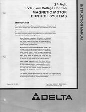 Delta Rockwell 24 Volt Lvc Magnetic Motor Control System Instructions