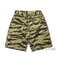 NON STOCK Tiger Patterns Stripe Combat Shorts Men's Combat Fatigue Cargo Shorts
