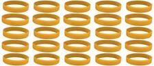 25 Gold Childhood Cancer Awareness Bracelets - High Quality Silicone Bracelets