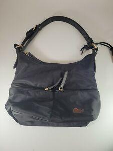 Dooney & Bourke FW615 Small Zipper Pocket Sac Black Hot Pink 1975 Purse Bag