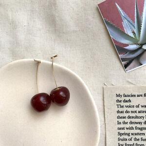 Large Fruit Strawberry Pineapple Drop Dangle Hook Earrings Women Jewelry Gift