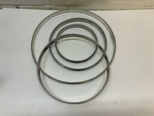 4 x Bourgeat Matfer Plain TART Mousse Flan Rings Stainless Steel Different Sizes