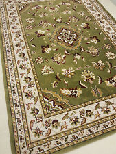 Traditional Oriental Style rug Sherborne 160x230cm Green Red Wool like pile SALE