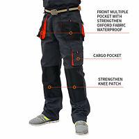 UK Mens Work Trousers Heavy Duty Pants KneePad Cargo Combat Style Multi Pockets.