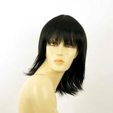 Perruque femme mi longue brun foncé VANILLE 2