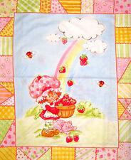 Strawberry Shortcake Rainbow Panel Cotton Print Quilting Fabric - 90cm x 110cm