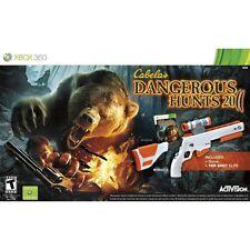 Cabela's Dangerous Hunts 2011 Xbox 360 Wireless Gun & Game Bundle New Sealed