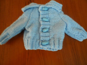 Hand knitted baby boy/Premature cardigan premature - -0-3 months