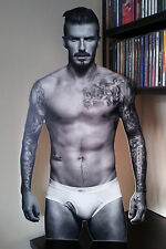 DAVID BECKHAM Special Promo CUT OUT Display Stand Up Standee NEW Rare Calendar