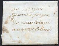 FRANCE Prephilatelic Cover Circa 1793 VF