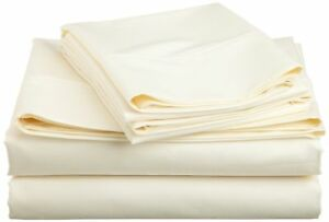 Ivory Solid All Bedding Sets Items Choose Size & Item 1000 TC Pure Egypt Cotton