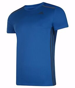 Men's New Adidas Cool 365 Running T-Shirt Top - Fitness Gym Training Gym - Blue