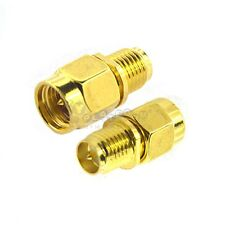 2pcs SMA male plug To RP-SMA female plug Straight RF Connector Adapter