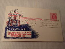 1951 First Day Issue Postcard ASDA Natl Postage Stamp Show