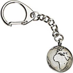 Planet Earth Keyring  -  Beautiful Pewter Keychain
