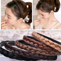 Fashion Girls Women Hair Braided Plaited Headband Synthetic Hairband Accessories