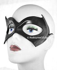 Black Batgirl Leather Mask Batman Halloween Costume Comic Book Geek Girl Cosplay