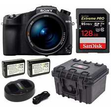 Sony Cyber‑Shot RX10 IV camera with Auto-Focus & 25x Optical Zoom Bundle