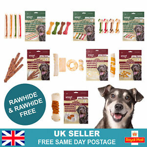 Dog Chews, Bones & Treats | Dental Teeth Cleaning Dog Puppy Pet Treats | Chicken