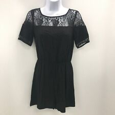 Pins And Needles Playsuit UK 6 Size XS Short Sleeve Black Lace Insert 332943