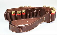 Cartridge Shell Belt Holder Pouch Case Leather Double Row Bandolier 24 x12 Ga