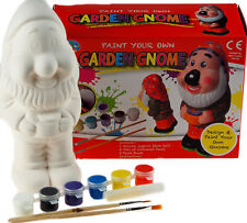 Paint Your Own Garden Gnome Statue Ornament Craft Kit