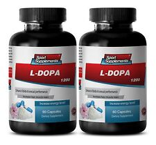 Tribulus - L-Dopa 99% Extract 350mg  - Boost Sex Libido Metabolism Brain 2B