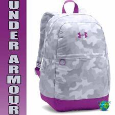 Under Armour Girls Favorite Backpack Laptop School Bag 1277402 Gray/Purple