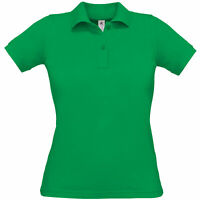 B&C Collection Womens Safran Pure Workwear Short Sleeve Fitted Polo Shirt Top