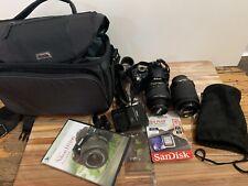Nikon D3100 and 18-55mm 55-200mm Lens Whole Set