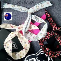 Women Lady Girl Star Muffin Retro Wire Ear adjustable bow scarf Hair head band