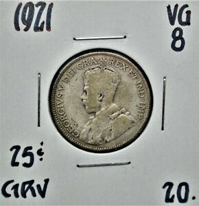 1921 Canada 25 Cents