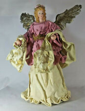 New ListingChristmas Tree Topper - (Mauve-White & Gold) with porcelain hands & face