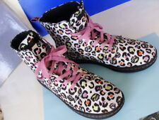 Dr Martens HACKNEY ~Canvas Ankle Boot Lace Up Multi-color Print Sneakers Size 10