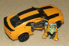 transformers 7 inch bumblebee camaro with mini figure with allspark lot READ