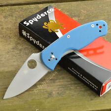 Spyderco Persistence Limited Edition Sprint Blue G-10 Folding Knife C136GPBL
