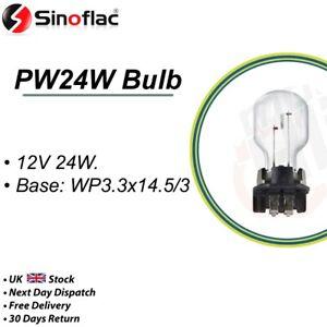 PW24W Bulb 12V 24W Bulb  WP3.3x14.5/3 Reverse, Fog, Parking, Brake