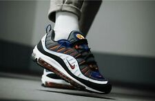 "NIKE AIR MAX 98 SNEAKERS SIZE UK 9.5 EUR 44.5 ""GUNSMOKE/TEAM ORANGE"