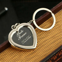 Heart-shaped Photo frame Key Holder key chain bag keyring Small Gift Pendants Be