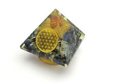 Combination Orgone EMF Pyramids Power Of Lapis Tourmaline & Crystal In 1 Pyramid