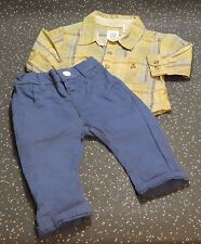 baby gap boys check shirt with next blue shorts age 3-6 months