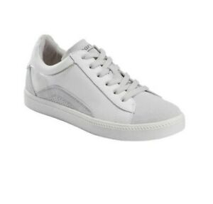 Earth ZEN MOMENT White Leather Shoes Sneakers 7 7.5 8 8.5 9 9.5 10 WIDE - NIB