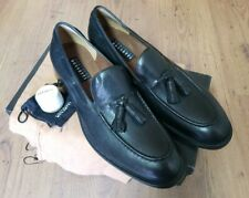 Fratelli Rossetti Black Leather Tassel Loafers Size 9.5