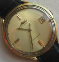 Mido Ocean Star Powerwind automatic date mens wristwatch gold filled case